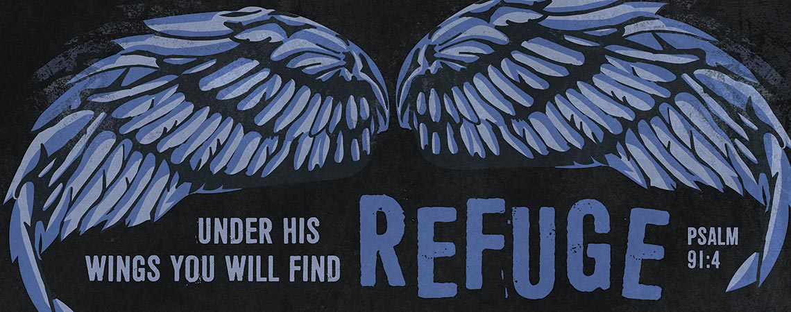 Under his wings you will find refuge. Psalms 91:4